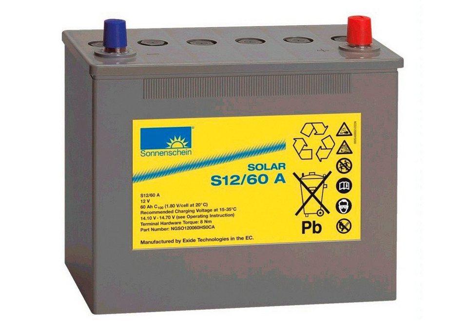 Solar-Gel-Batterie, 60 Ah in grau