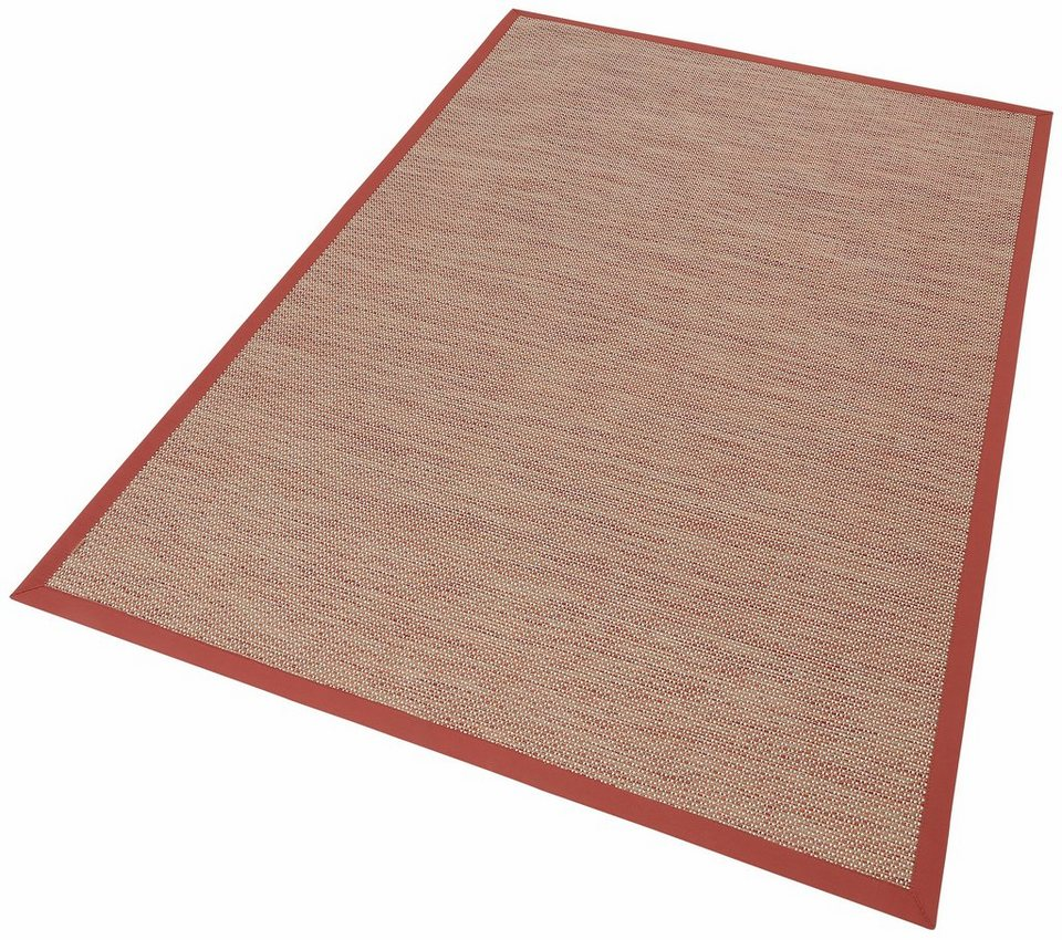 Teppich, Dekowe, »Color«, Melange-Effekt, gewebt, Sisaloptik, Wunschmaß in rot
