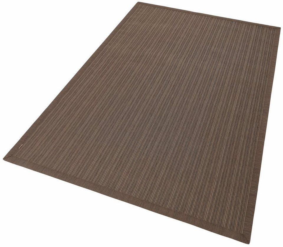 Teppich, In- und Outdoor, Dekowe, »Peoria«, Melange-Effekt, gewebt, Sisaloptik in braun