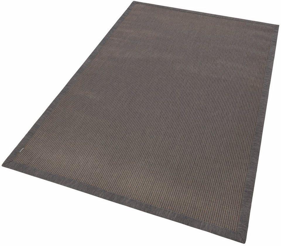 Teppich, In- und Outdoor, Dekowe, »Ontario«, Melange-Effekt, gewebt, Sisaloptik in grau