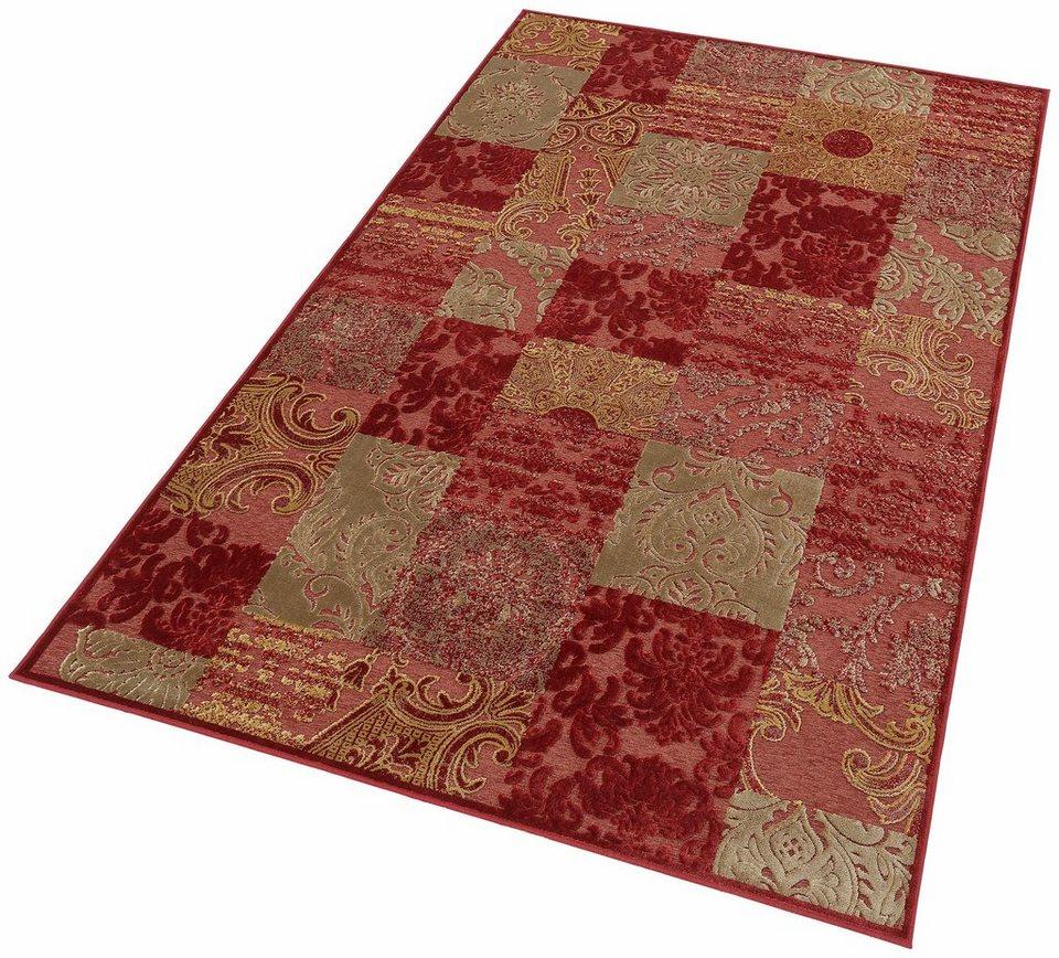 Teppich, Dekowe, »Gistel«, Hoch-Tief-Effekt, Melange-Effekt, gewebt in rot