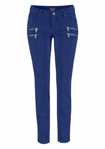 Pantalons Laura Scott, Avec Fermetures Éclair Décoratives