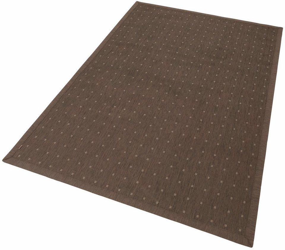 Teppich, Dekowe, In- und Outdoor, »Pomona«, Melange-Effekt, gewebt, Sisaloptik in braun