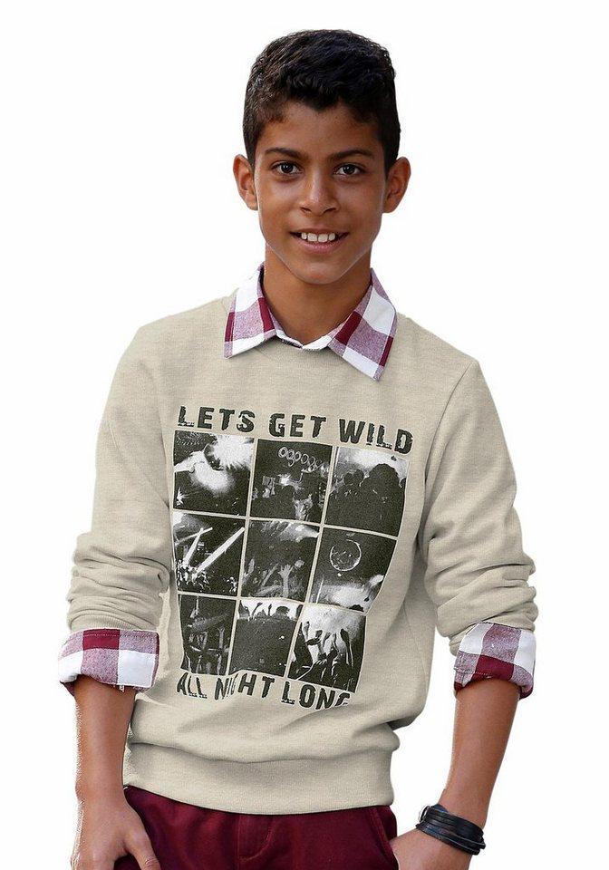H.I.S Sweatshirt mit Fotodruck in wollweiß-meliert