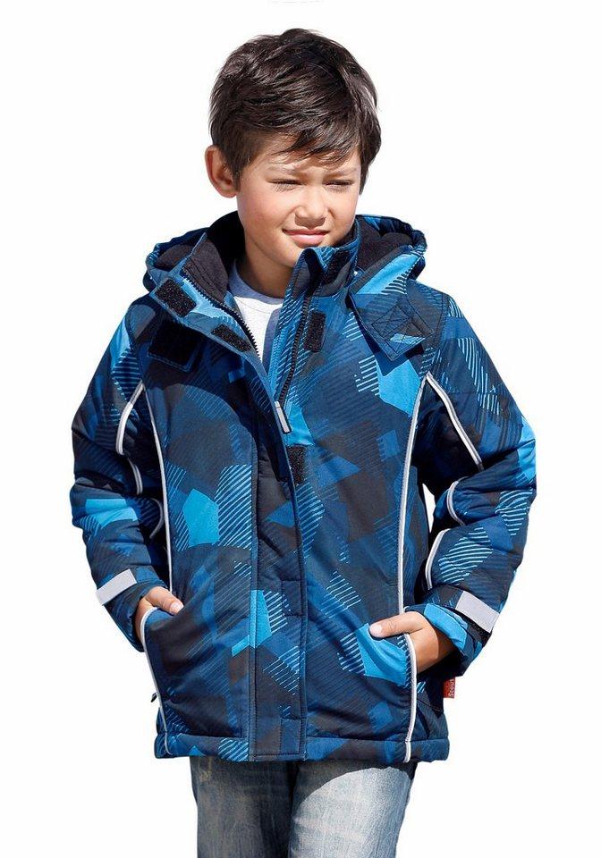 Scout Schneejacke allover bedruckt in royalblau-gemustert