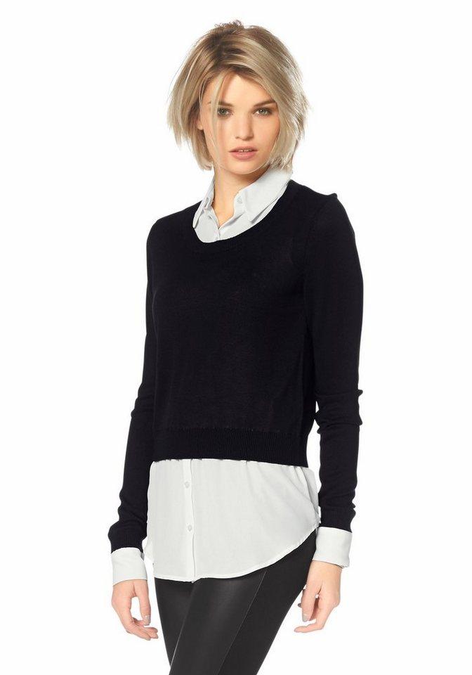 Laura Scott 2-in-1-Pullover in schwarz-weiß