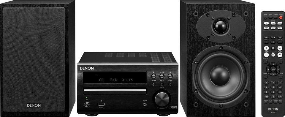 Denon D-M40 Microanlage, RDS, 1x USB in schwarz