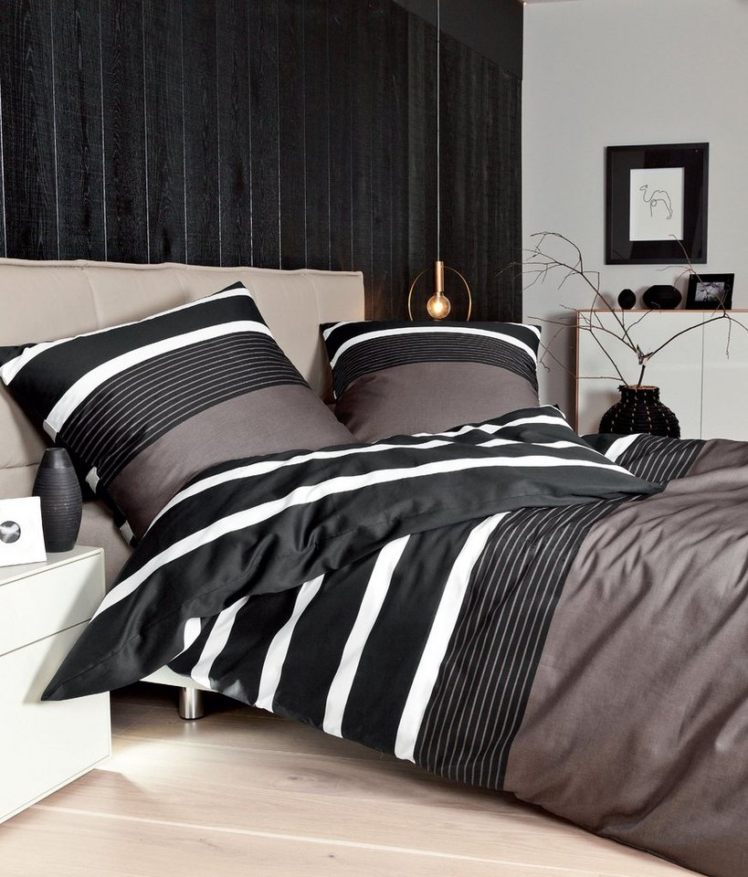 bettw sche janine querstreifen mit breiten streifen. Black Bedroom Furniture Sets. Home Design Ideas