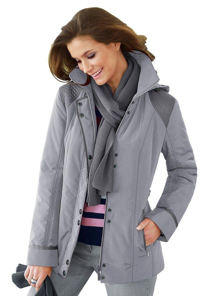 Collection L. Jacke mit abnehmbarer Kapuze in grau