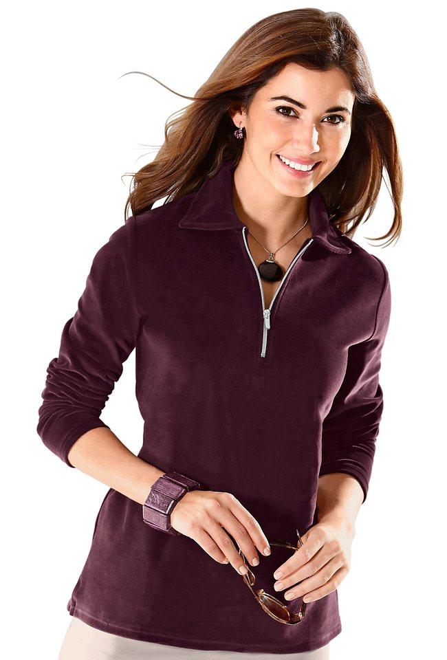 Classic Basics Shirt mit Umlegekragen in bordeaux