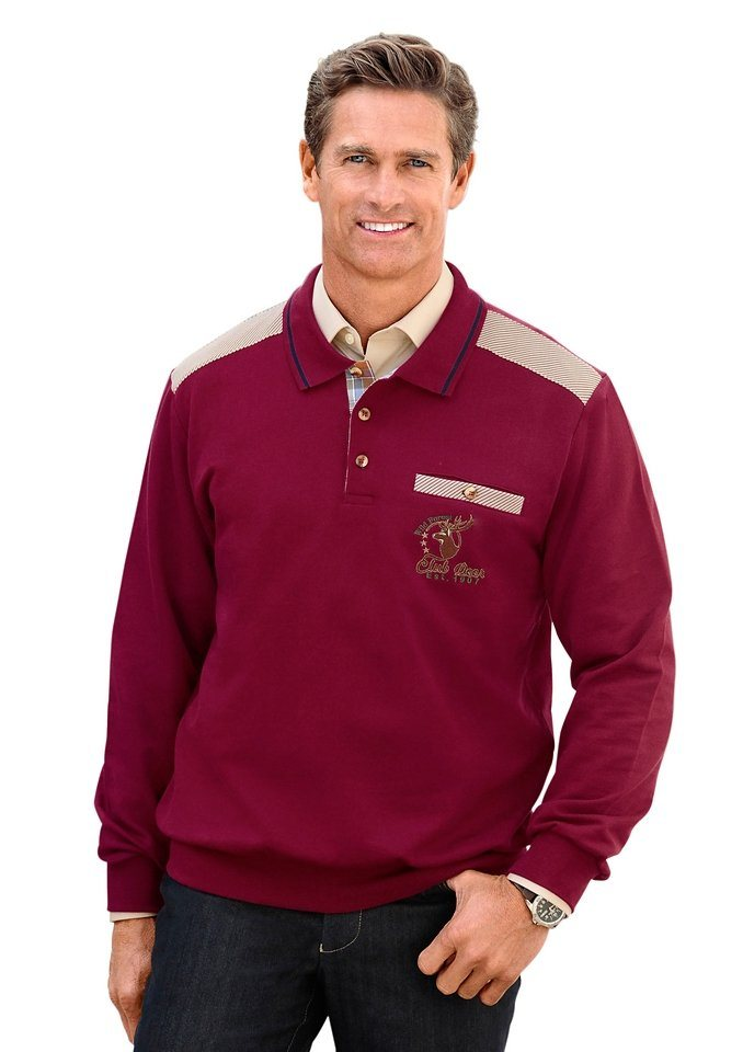 J. Witt Collection Sweatshirt mit Details im Landhausstil, J.Witt collection in bordeaux