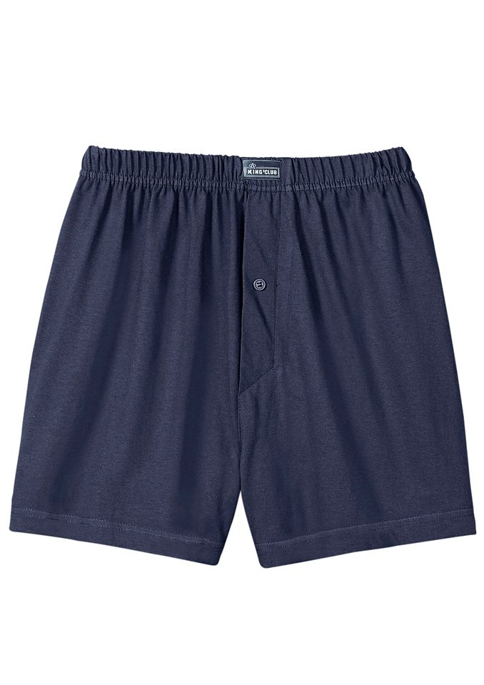 Boxershorts, Kings Club (3 Stck.) in blau + grau + bordeaux