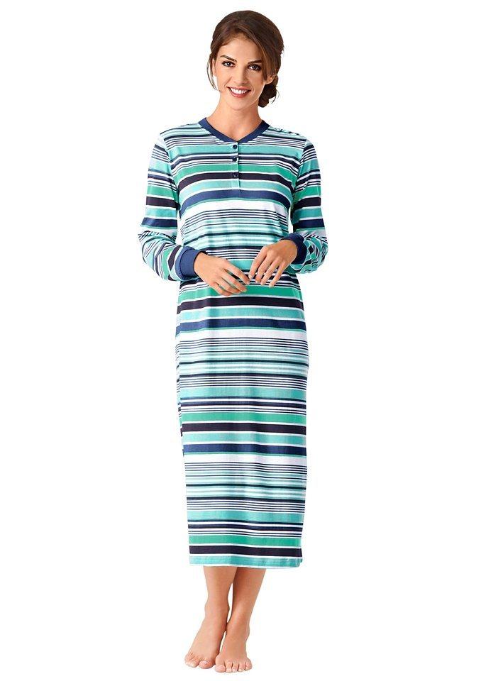 Nachthemd, Rosalie in blau-geringelt