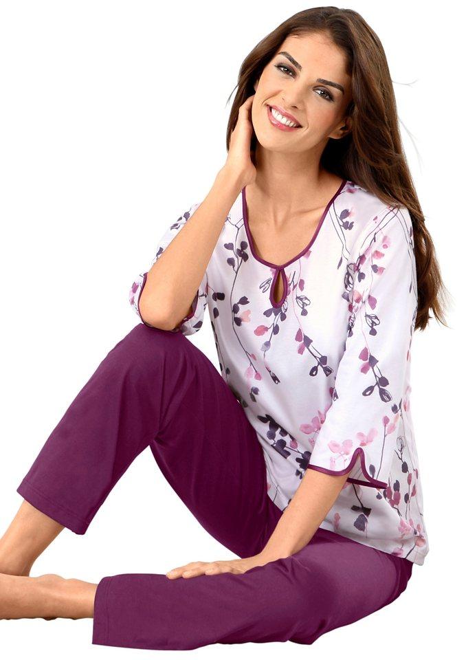Schlafanzug, Ascafa in rosé-bedruckt