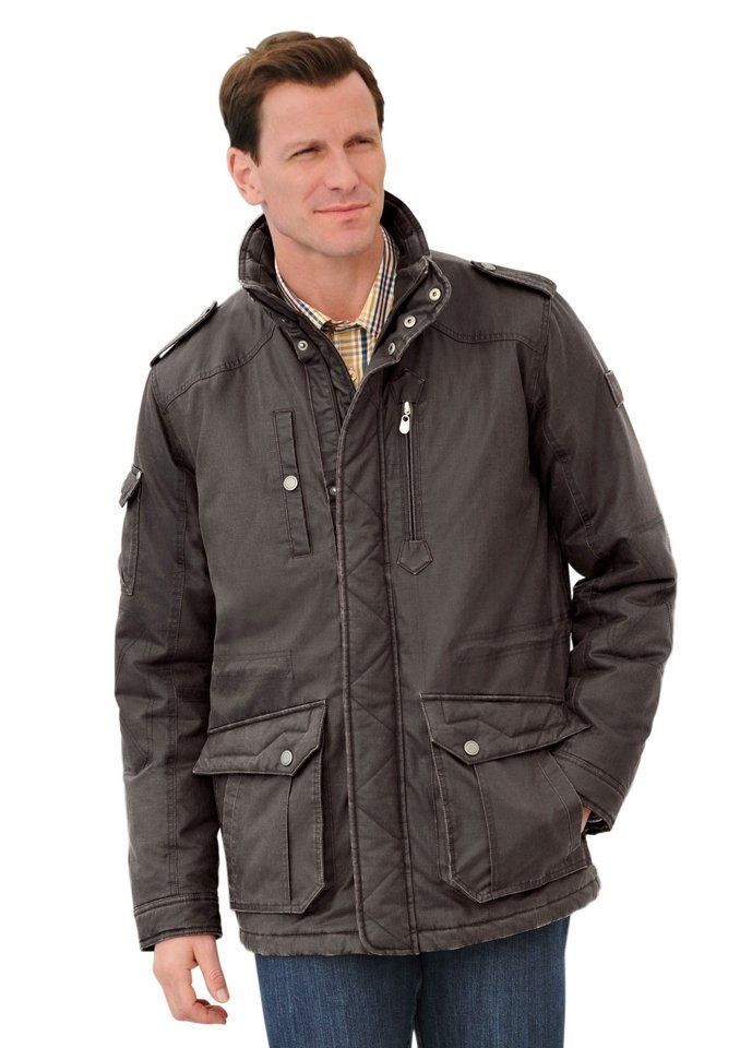 Marco Donati Longjacke in Antik-Leder-Optik in braun