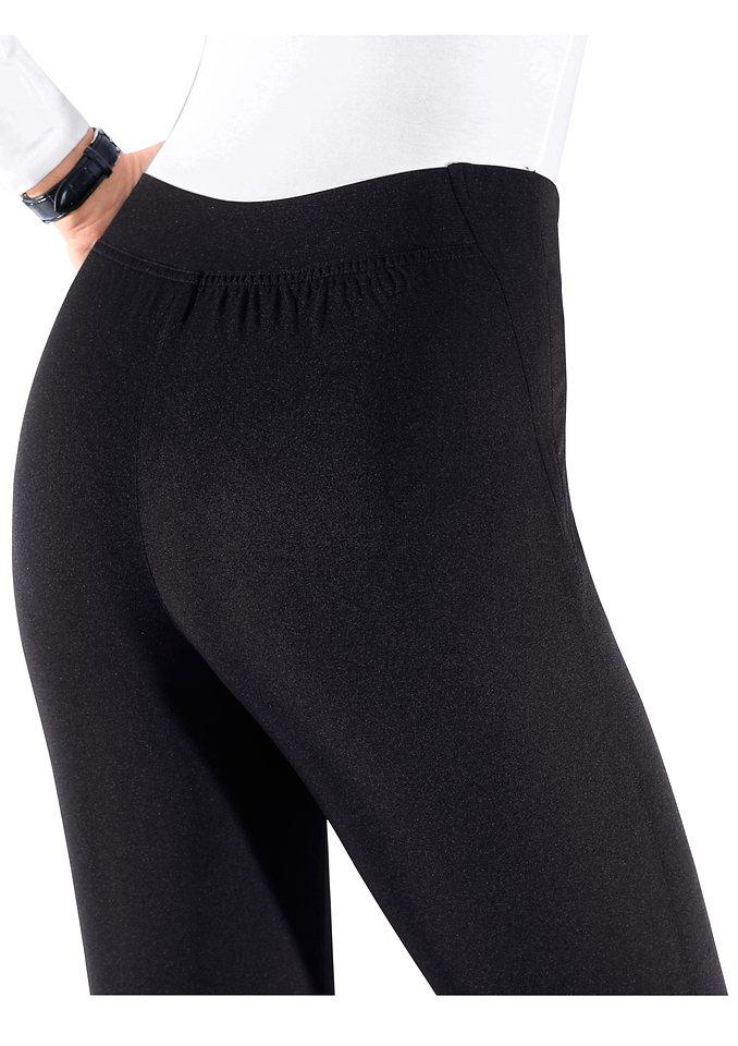 Classic Basics Hose mit Gummizug vorne und hinten in schwarz