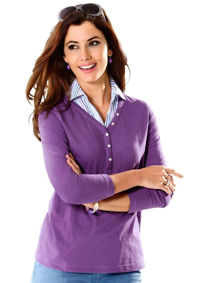 Classic Basics Shirt zum Spitzenpreis in lila