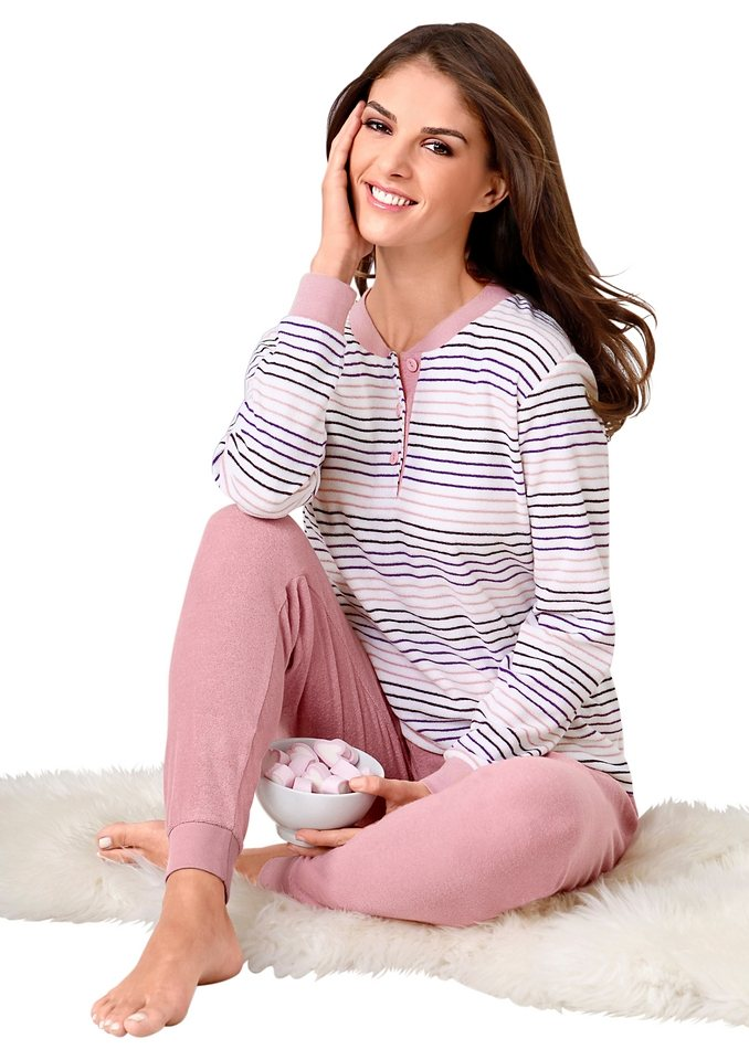Schlafanzug, Rosalie in rosé-gestreift
