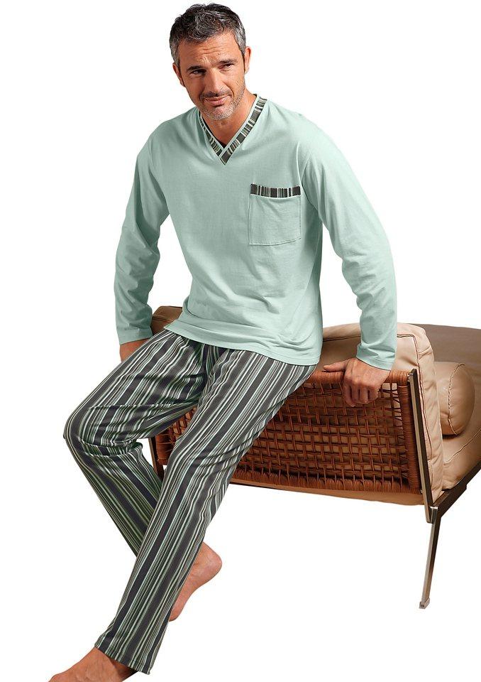 Schlafanzug in mint-anthrazit