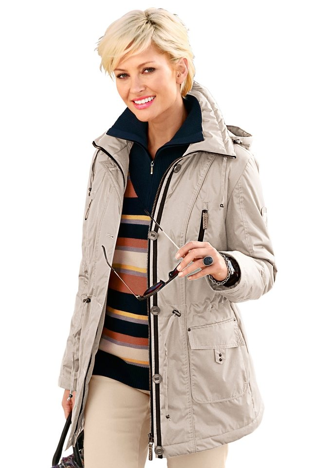 Collection L. Jacke mit Tunnelzug in taupe