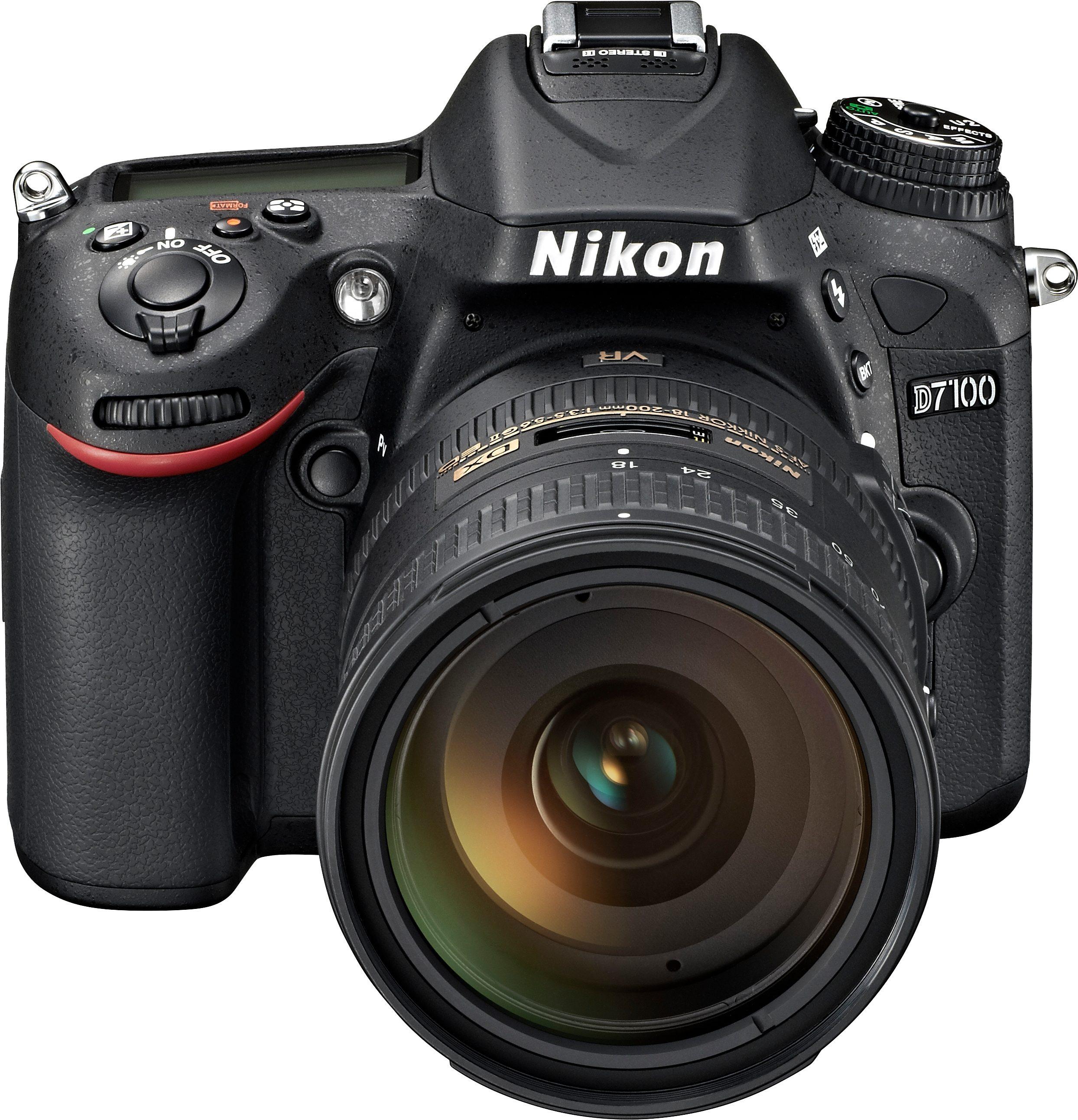 Nikon D7100 Kit AF-S DX 18-200G VR II Spiegelreflex Kamera, Zoomobjektiv Zoom, 24,1 Megapixel