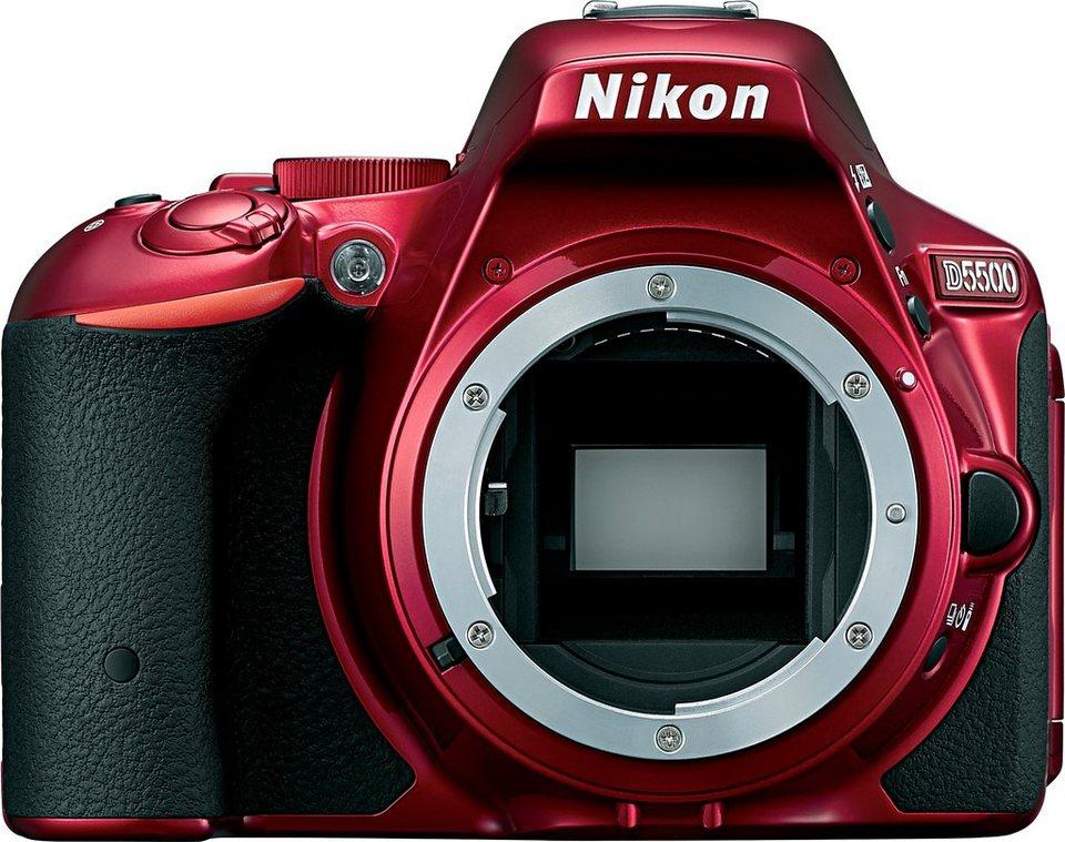 Nikon D5500 Spiegelreflex Kamera, 24,2 Megapixel, 8,1 cm (3,2 Zoll) Display in rot