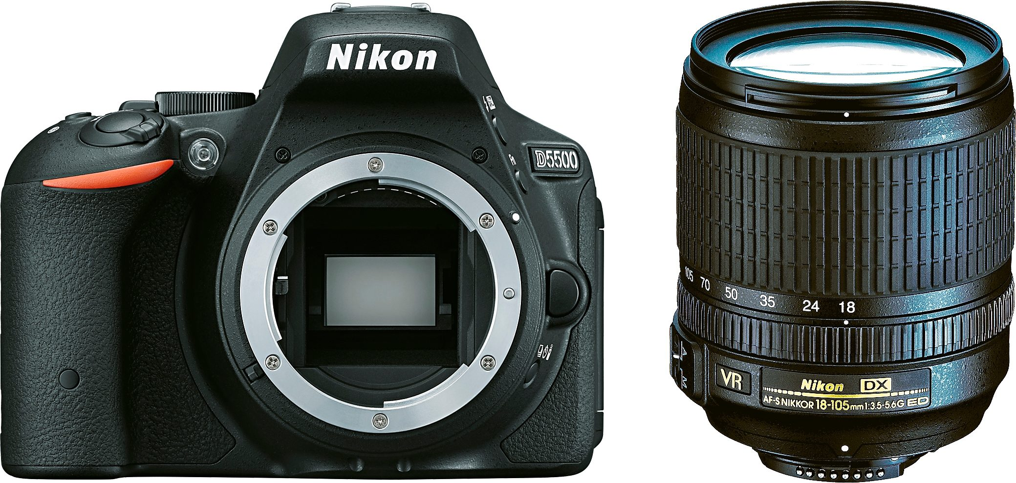 Nikon D5500 Kit DX 18-105 VR Spiegelreflex Kamera, Zoomobjektiv Zoom, 24,2 Megapixel