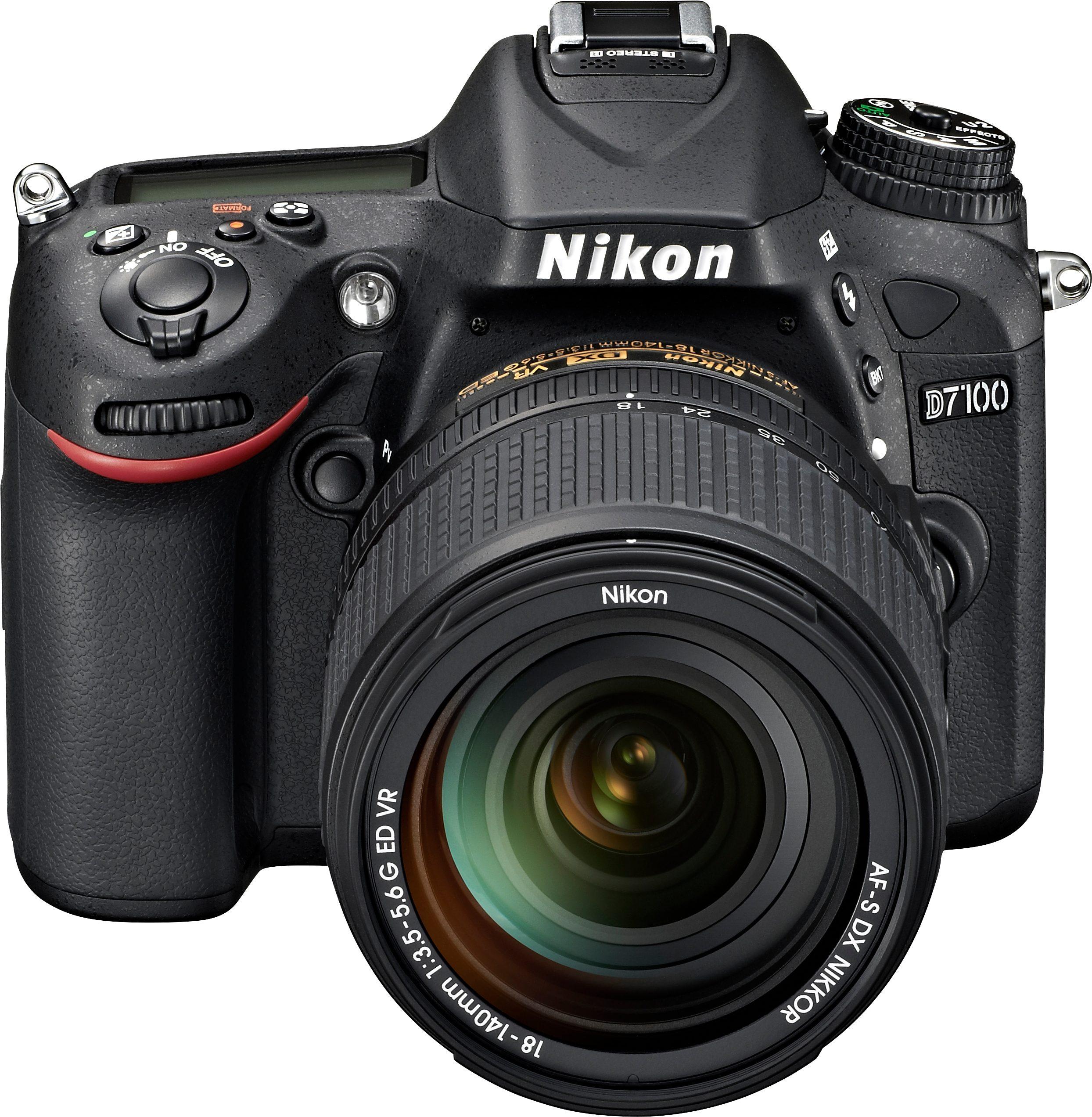 Nikon D7100 Kit AF-S DX 18-140G VR Spiegelreflex Kamera, Zoomobjektiv Zoom, 24,1 Megapixel