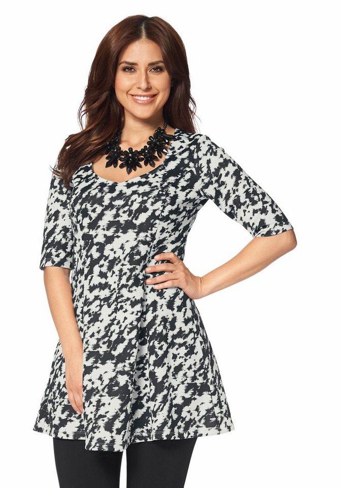 Apart Longshirt Plus Size dicke Jersey-Ware in bedruckt