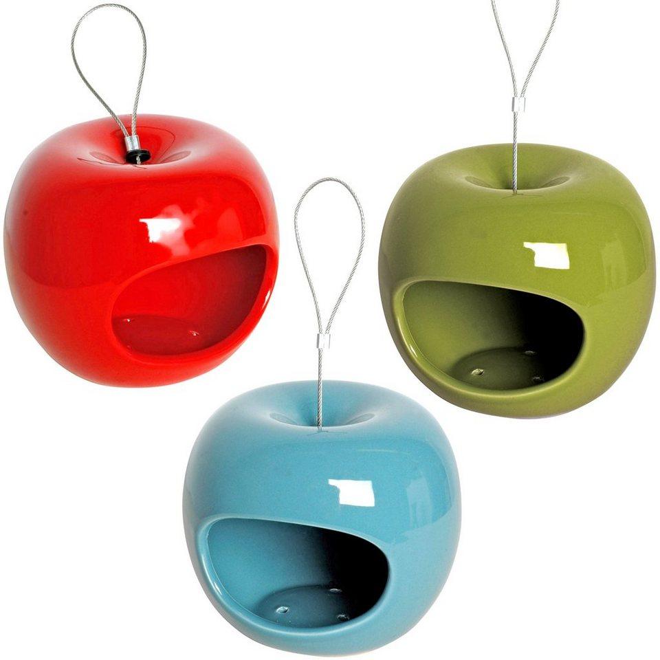 Dobar Futterhaus »Apfel« 3er Set in bunt