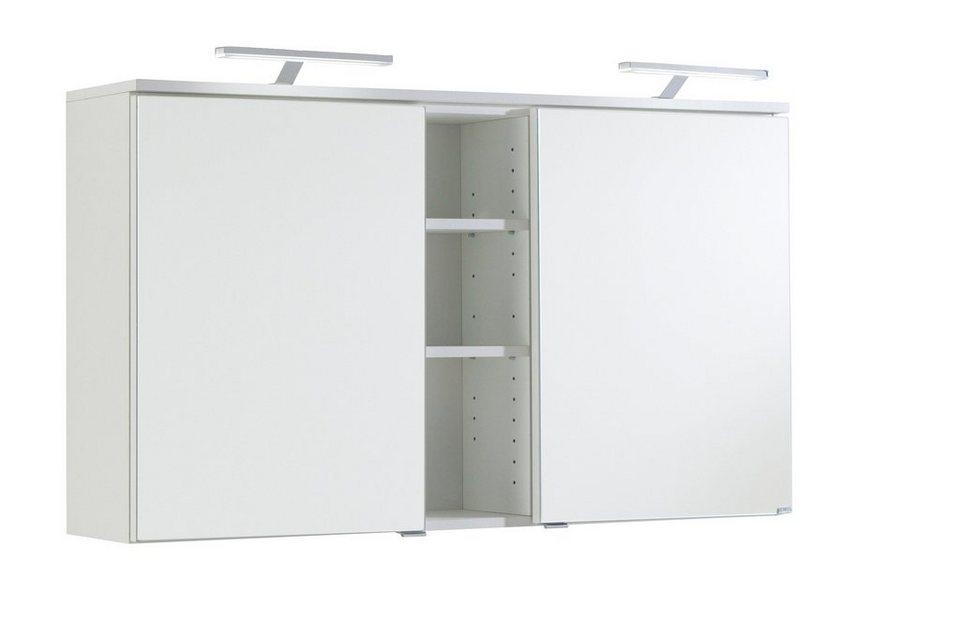 Spiegelschrank »Prato« Breite 120 cm, mit LED-Beleuchtung in weiß