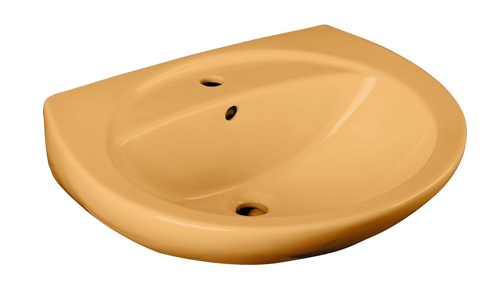 Cornat Keramik Waschtisch / Waschbecken »Curry«, Breite 60,5 cm