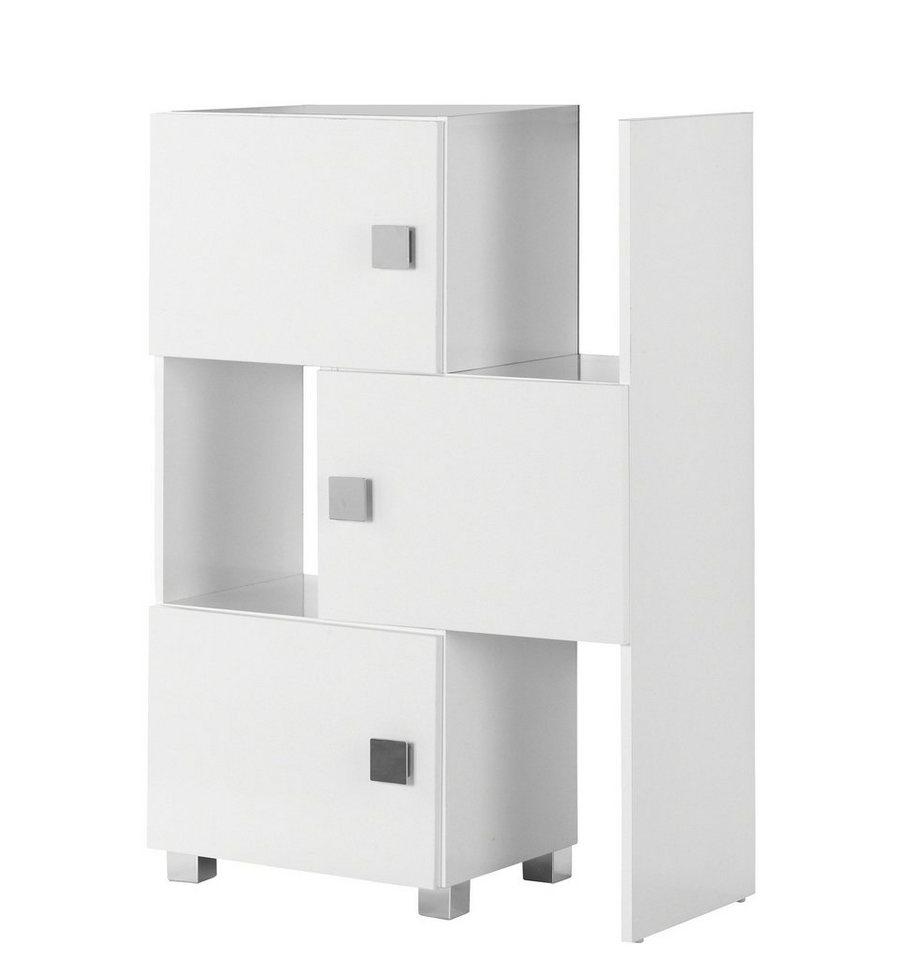 Hochschrank »Quadra«, Breite 47-78 cm in weiß