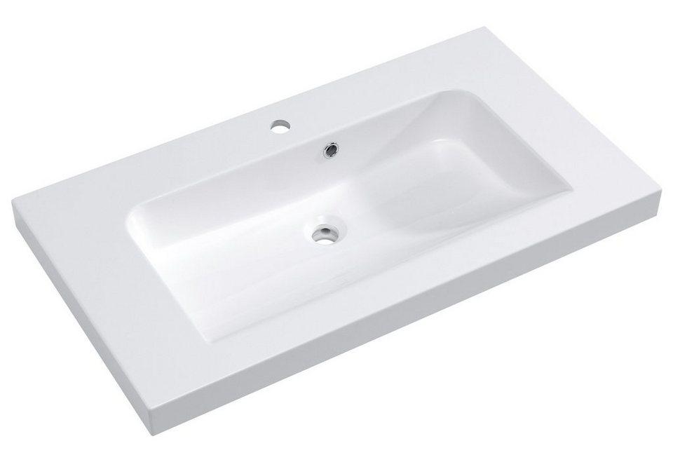 Mineralguss Waschtisch / Waschbecken »Balto« 91 cm in weiß