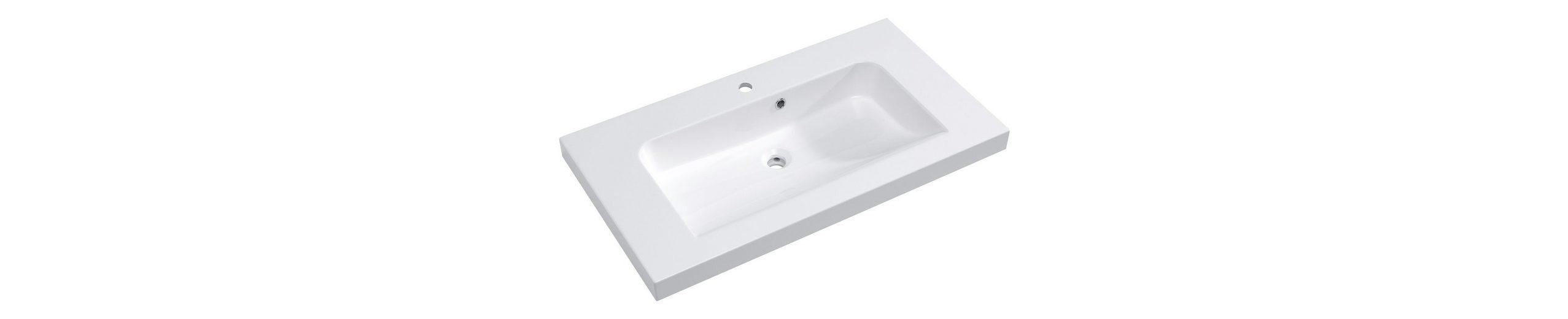 Mineralguss Waschtisch / Waschbecken »Balto« 91 cm