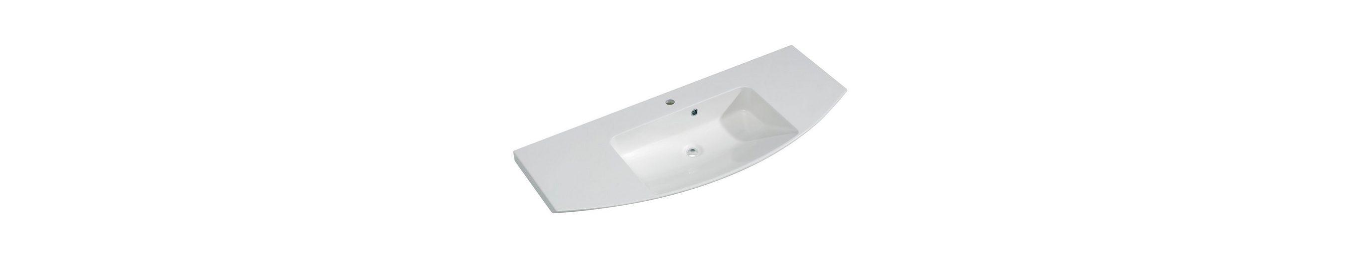 Mineralgussmarmor Waschtisch / Waschbecken »Cassca« 121 cm