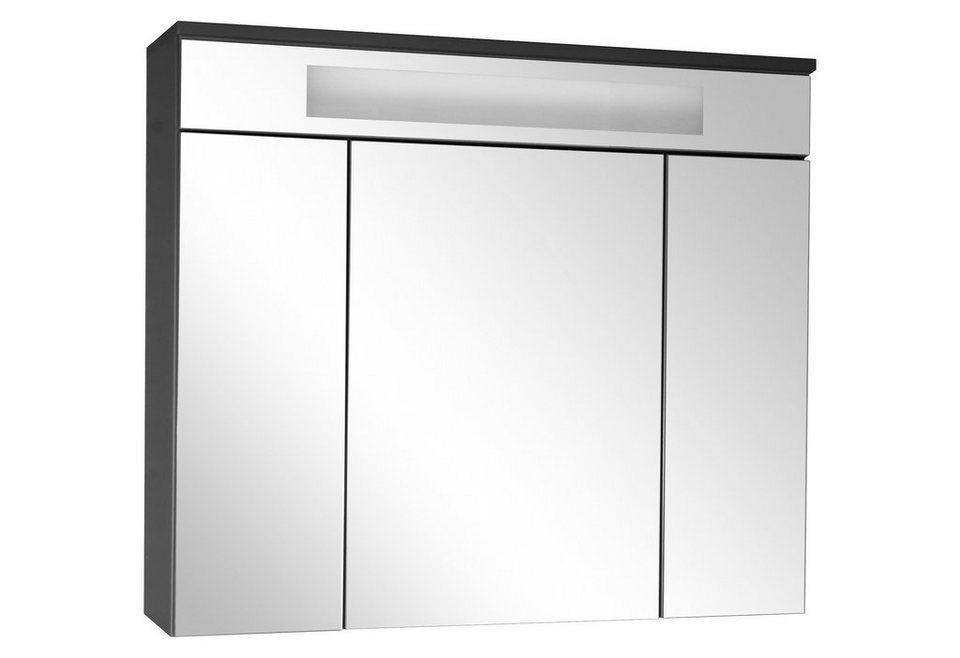 Spiegelschrank Mit Beleuchtung Otto : Spiegelschrank »Kara« Breite 80 cm, mit Beleuchtung online kaufen