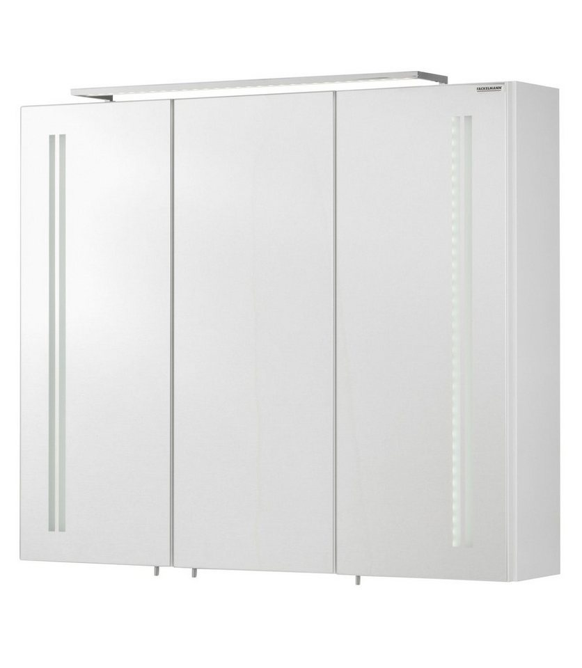 fackelmann spiegelschrank lugano breite 80 cm mit led beleuchtung online kaufen otto. Black Bedroom Furniture Sets. Home Design Ideas