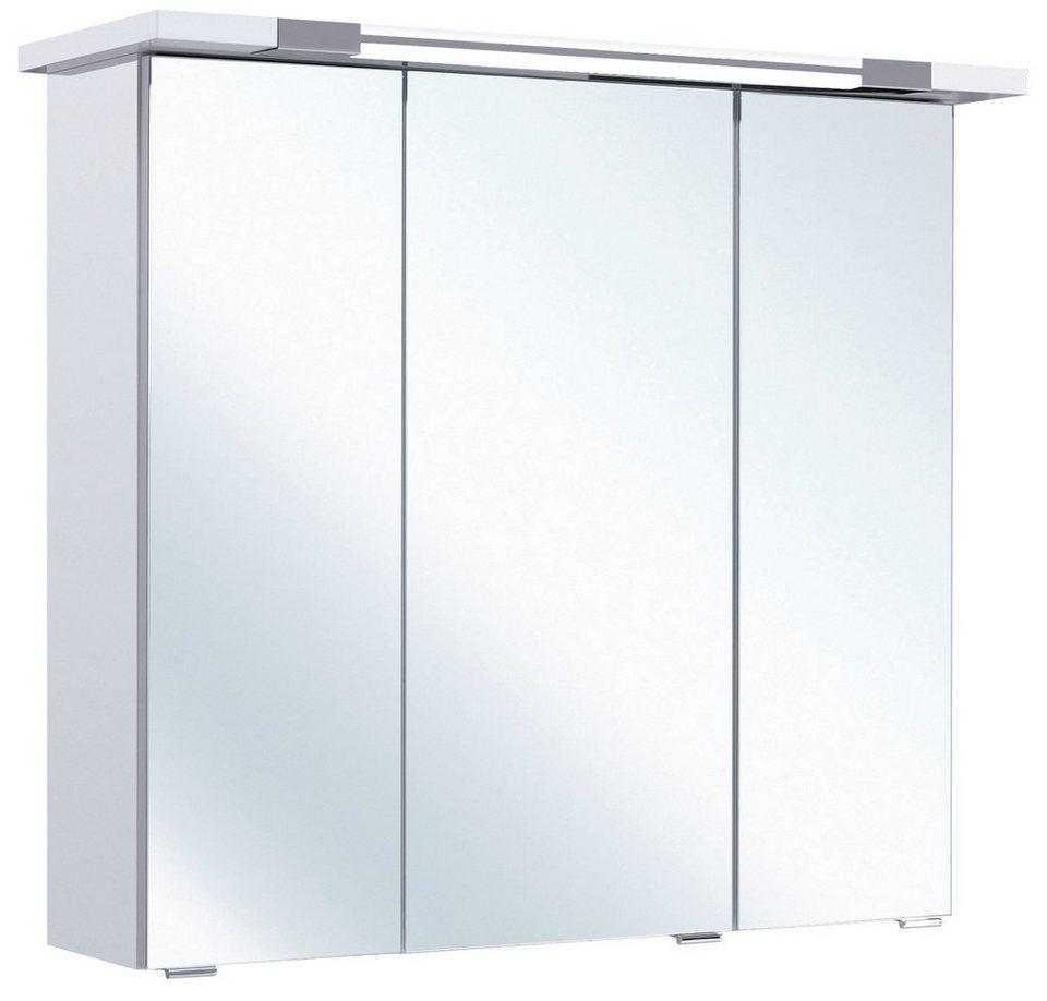 Spiegelschrank »Seo« Breite 75 cm, mit Beleuchtung in weiß