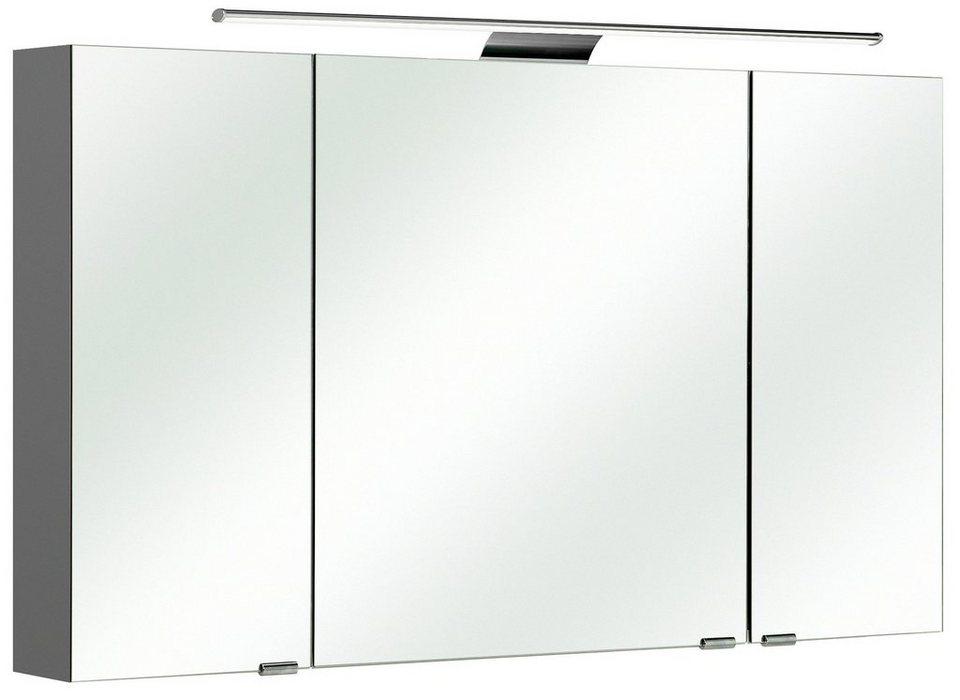 Spiegelschrank »Solitaire 6005« Breite 120 cm, mit LED-Beleuchtung in anthrazit