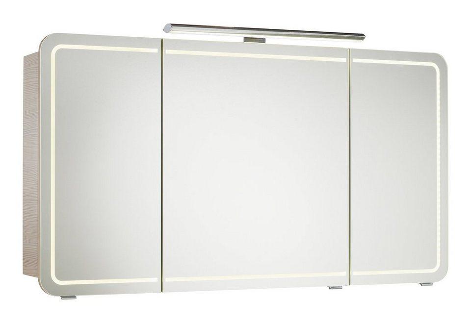 Spiegelschrank »Contea« Breite 128 cm, mit LED-Beleuchtung in piniefarben honig