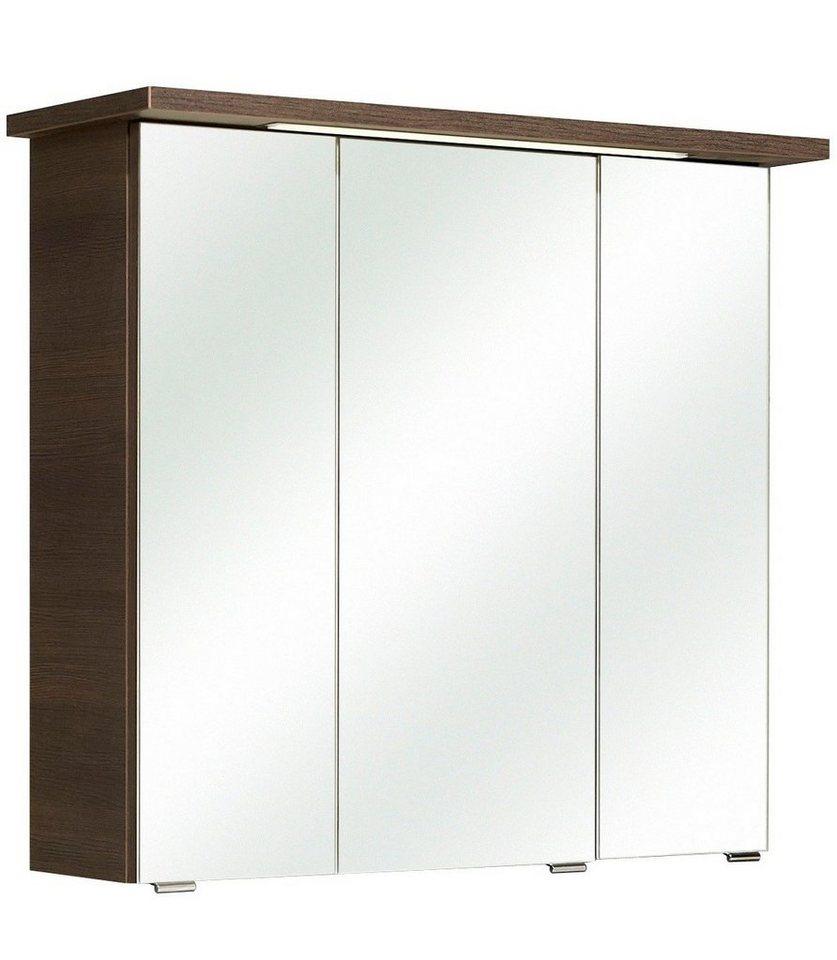 Spiegelschrank »Mara« Breite 75 cm, mit Beleuchtung in mokka