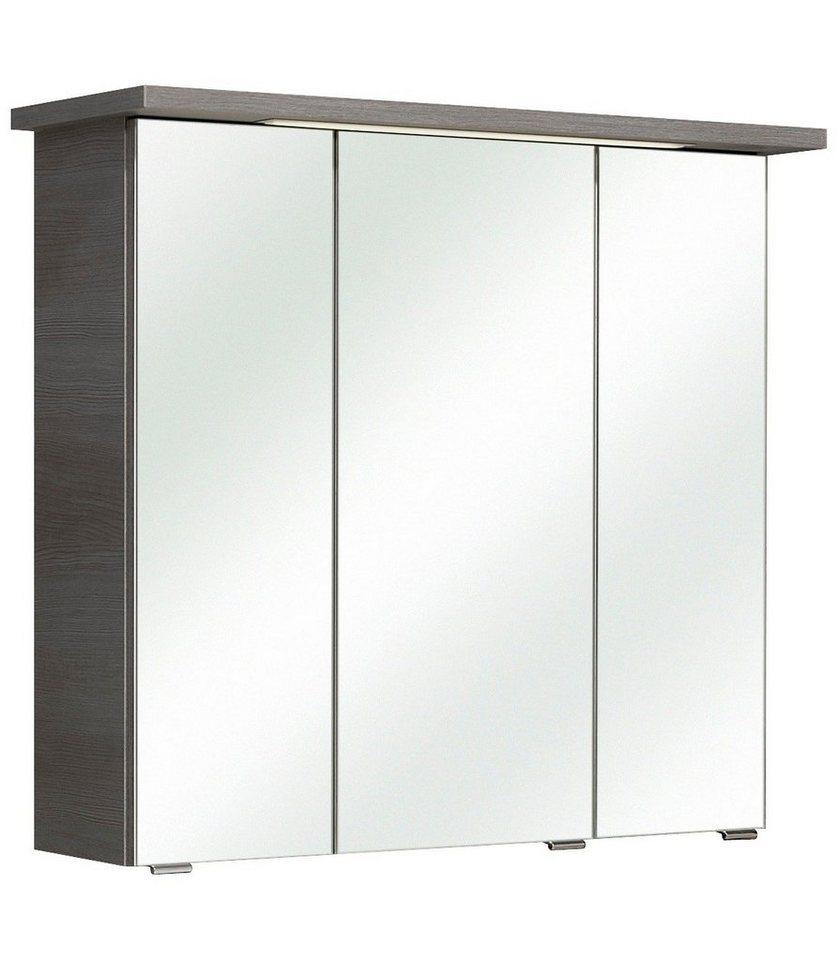 Spiegelschrank »Alika« Breite 75 cm, mit Beleuchtung in graphitfarben