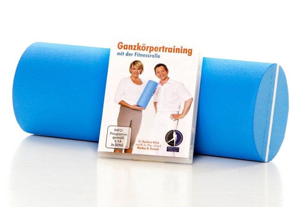 Joka Fit Fitnessrolle inkl. Ganzkörper-Trainings-DVD in blau-weiß