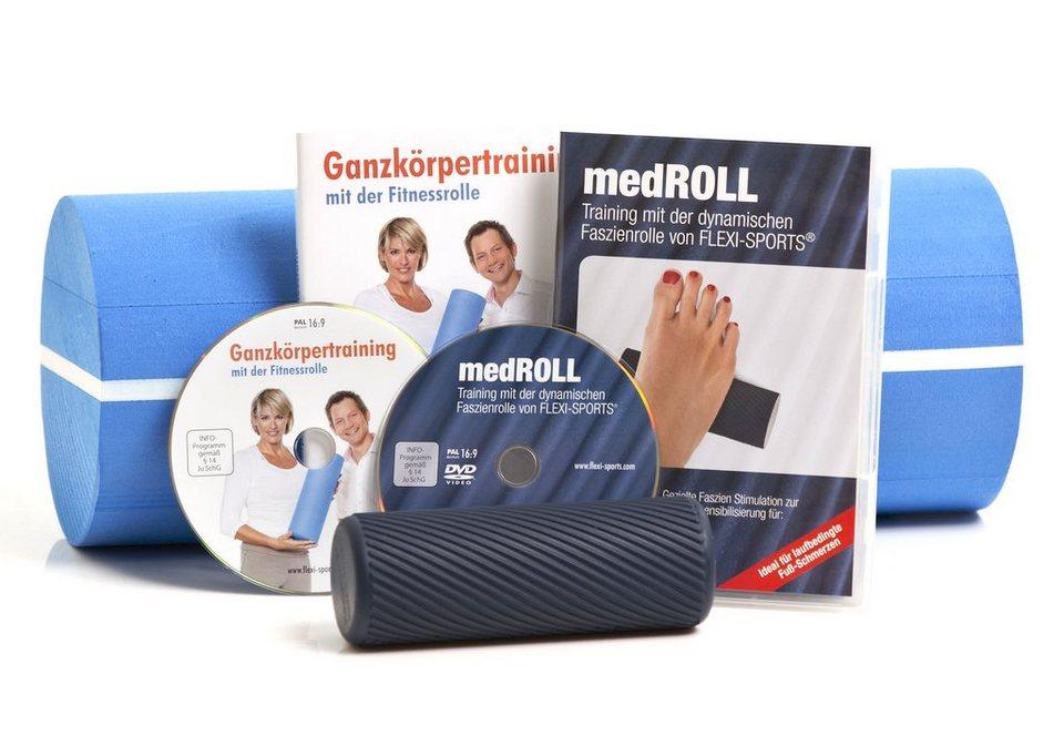 Joka Fit Faszien-Rollenset, »Fitnessrolle + medROLL inkl. DVDs« in schwarz
