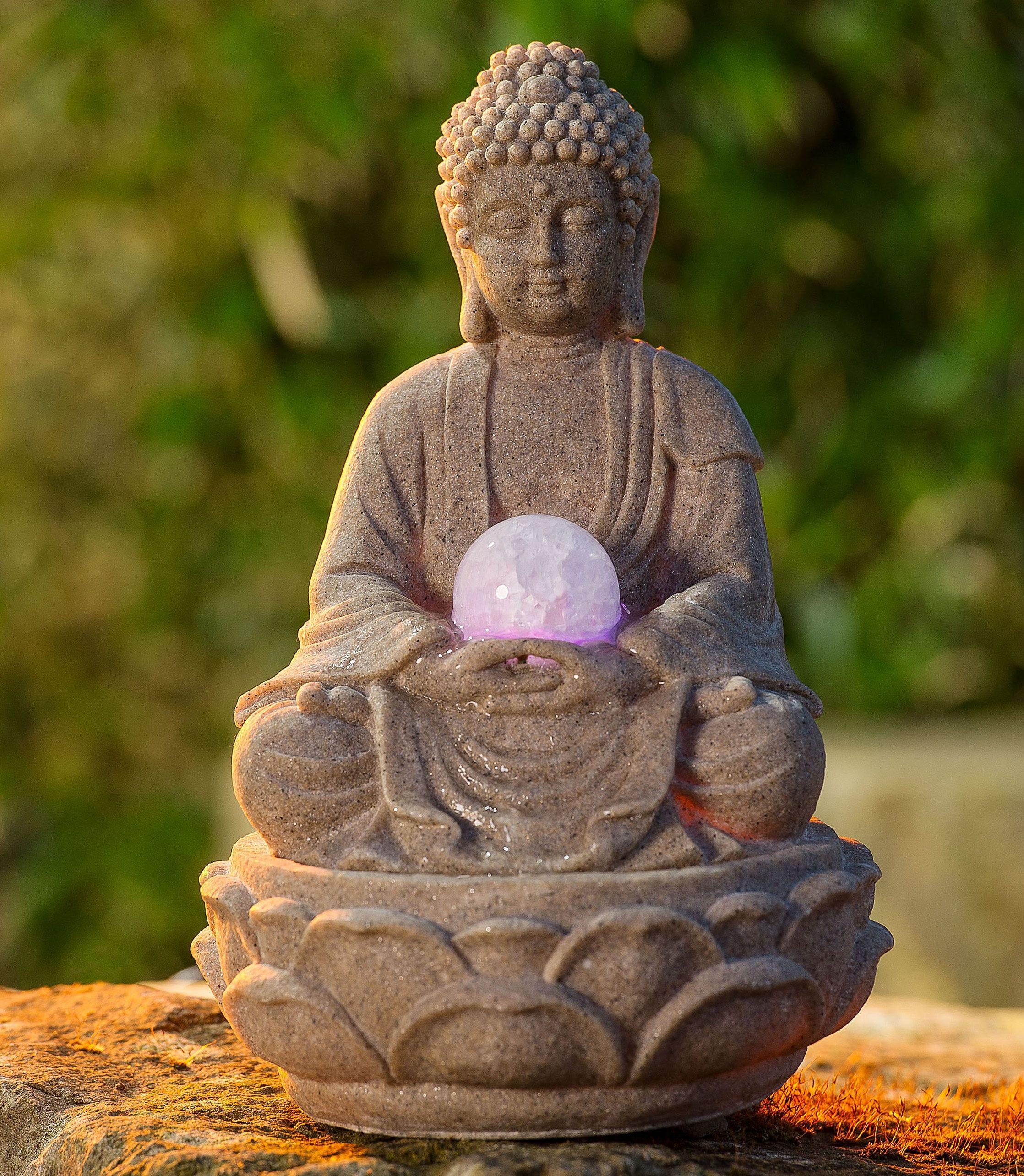 Zimmerbrunnen Buddha »Lotus«
