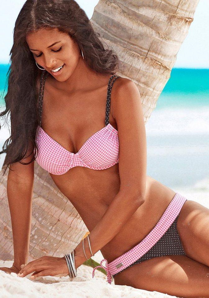 Buffalo Bikini-Hose »Florida« in rosa-schwarz