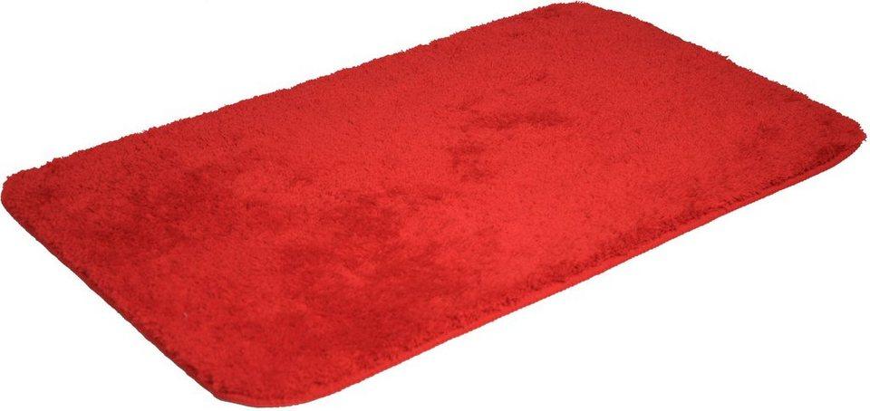 Badematte, Dyckhoff, »Opal«, Höhe ca. 35mm, rutschhemmender Rücken in rot