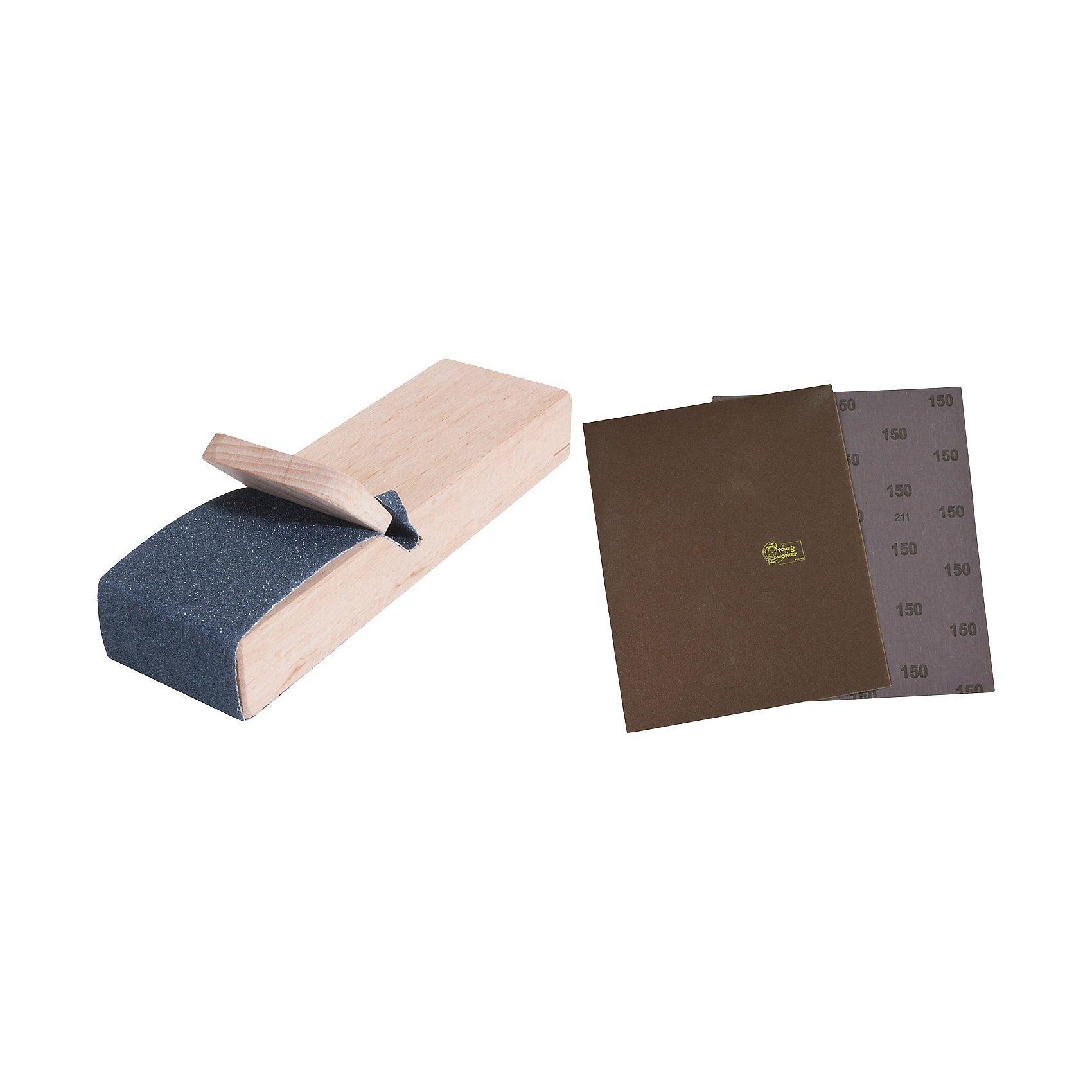 Pebaro Werkzeug-Set Schleifleinen mit Schleifblock