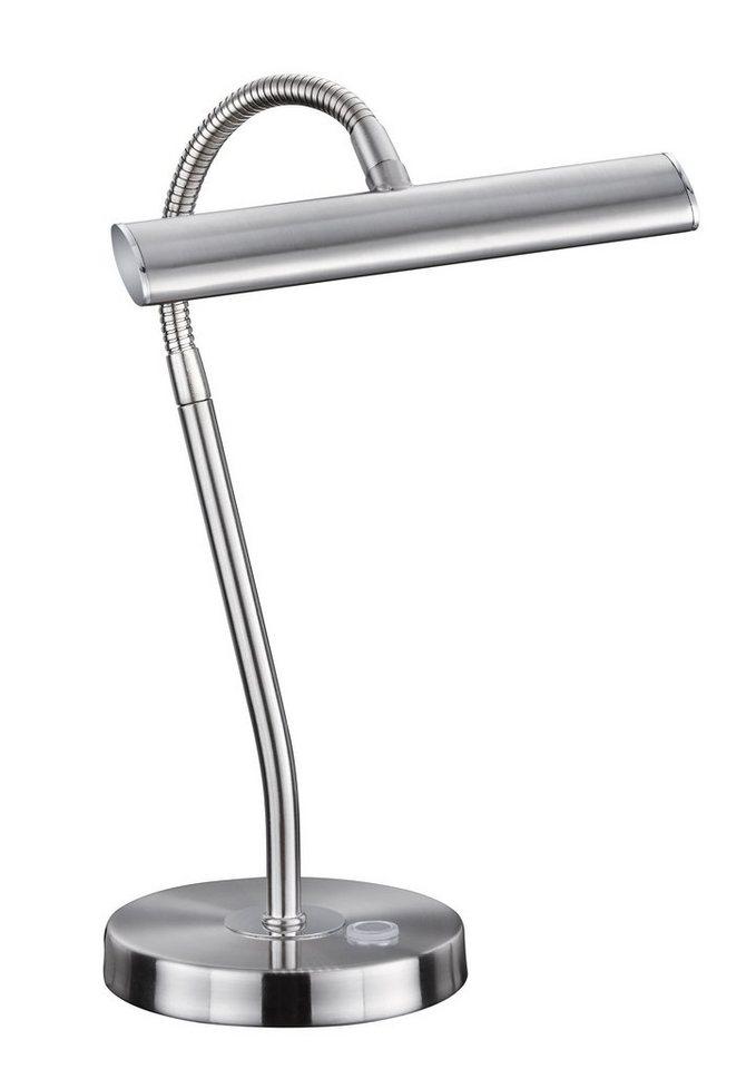 Trio Tischleuchte, inkl. LED-Leuchtmittel, 1 flammig in nickel matt